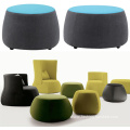 Pouf Seat Chair Footrest Upholstered Stool Ottoman