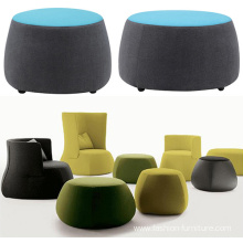 Customized for Pouf Ottoman Pouf Seat Chair Footrest Upholstered Stool Ottoman supply to Spain Factories