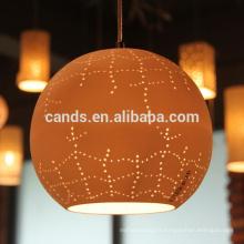 Lampe suspendue moderne en céramique lumineuse