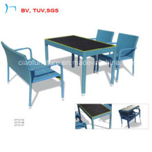 Meubles de salle à manger de rotin bleu de meubles de rotin de meubles de jardin de rotin