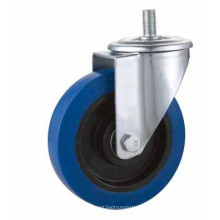 Kxx3-D Stern Swivel Type Blue Rubber Industrial Caster