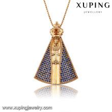 32688-dubai gold plated jewelry 18k gold cz custom pendant