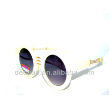 2014 white color designer metal accessory sunglasses for wholesale