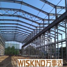 Estrutura de aço leve pré-fabricada com casa de telhado de frontão