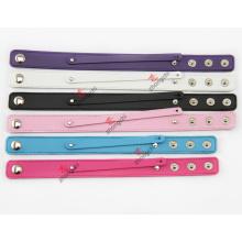 Vente en gros Custom PU bracelet en cuir avec 8mm Slide Charms (CPB50806)