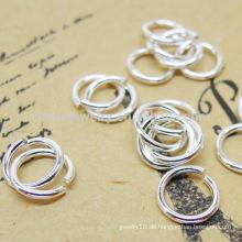 925 Sterling Silber Sprung Ringe Schmuck Zubehör mit vielen Größen SEF007