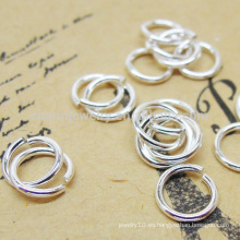 925 plata esterlina salto anillos joyas accesorios con muchos tamaños SEF007