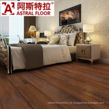 Cor vermelha escuro com CE, certificação ISO certificação de piso laminado