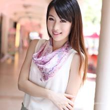 Echarpe en polyester en soie (12-BR050320-6.5)