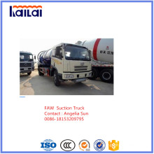 FAW Camión de vacío para camión de aguas residuales de succión en venta
