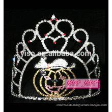 Einfaches Design Kristall schöne goldene Kürbis-Tiara