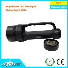 Jexree rechargeable lampe torche à led imperméable Profondeur de plongée 100 m Interrupteur de commande magnétique sans électrodéposition