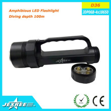 Jexree rechargeable led flashlight torch Rainproof Diving depth 100m Electrodeless magnetic control switch