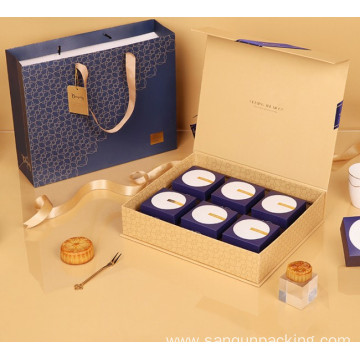 Magnetic paper gift box for mooncake