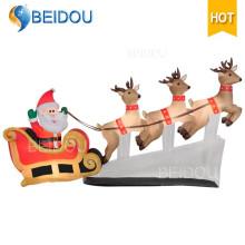 Décorations géantes Christmas Inflatable Sleigh Outdoor Inflatable Christmas Sleigh