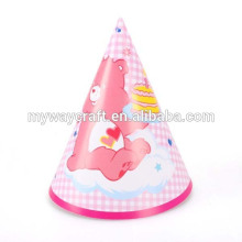 Hot sale high quality cartoon pattern handmade paper party hat