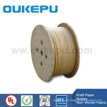 papier kraft double couche recouverte de fil d'aluminium plat, emballée en papier métallique carré, Nomex enduit de fil d'aluminium