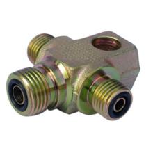 SAE 90 ° Montagem em peça única com conector de 24 ° (de acordo com ISO 8434-1 / DIN 2353)