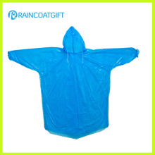 Disposable PE Hooded Sleeve Raincoat Rpe-064