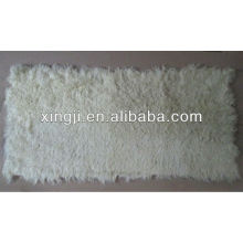 Kalkan Lamm Haut Fell Platte große Locke natürliche weiße Farbe