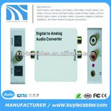 Convertidor de decodificador de audio digital a analógico