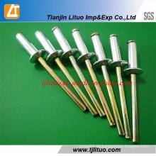 Fabrik Versorgung Farbe Zink Open Type Aluminium Blind Nieten