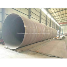 Tubería de acero en espiral SSAW de acero al carbono soldado