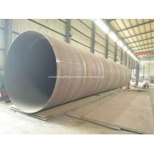 Tubo de aço em espiral SSAW de aço carbono soldado