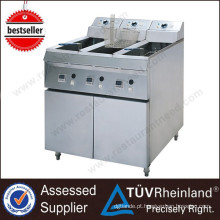 Guangzhou Commercial Stainless Steel Freestanding 1-Tank 2-Basket Commercial Deep Fryer