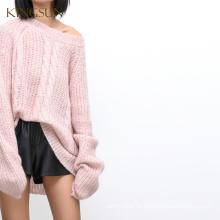 Oversize Pullover für Mädchen, Mohair stricken Pullover, Womens Cabel stricken neuesten Pullover