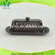 2014 estilo elegante cerâmica placa de bolo com forma de seqüência