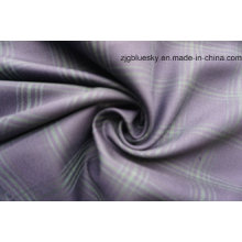 Check Polyester Wool Fabric for Suit