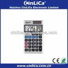 Correta calculadora solar notebook com capa de couro