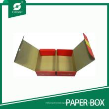 Caja de empaquetado doble de frutas corrugadas plegables