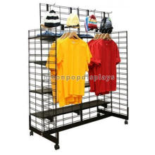 Clothes Shop Decoration Grid Wall Metal Furniture Freestanding Boutique Equipment Garment Display Rack