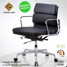 Silla de Eames cuero Oficina jefe con versión original Gv-Ea217)