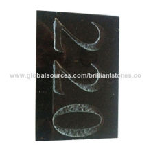 Black Galaxy Granite Signage, Used As Number Plate for House Indication/with Numbers Sand Blasted