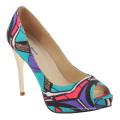 Nuevos zapatos de tacón alto de moda impresos del oeste africano (HCY02-1354)