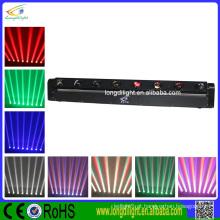 8 * 10W RGBW 4in1 movendo a luz principal do disco conduziu a barra do feixe