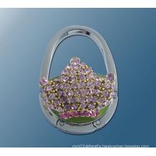 Metal Round Shape Foldable Handbag Hook Purse Table Hook