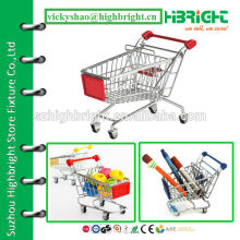 mini supermarket shopping cart trolley model for Christmas gift