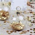 Titular de cartão de lugar de vidro ornamento decoração de casamento de Natal