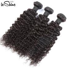 Beste Qualität Großverkauf der Fabrik-100% lockige natürliche Haar-Webart in Indien