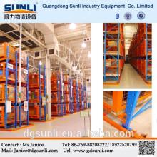Rack robuste de stockage industriel d'allée étroite