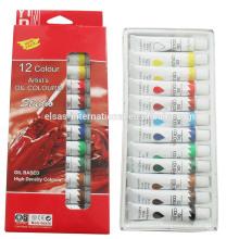 12 pcs non toxic oil colors diy paint set