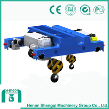 ND Type Double Girder Trolley with Double Hook for Sale