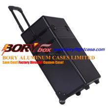 Custom Design Size Black Expandable Make up Case