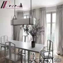 Lámpara colgante de vidrio rectangular moderna y simple con comedor