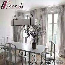 Lampe pendante en verre rectangle moderne et simple avec salle à manger