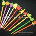 bois de dessin animé 3D crayon de fruits pour la promotion